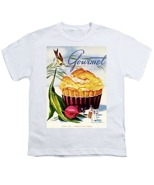 Gourmet Cover Illustration Of A Souffle And Tulip Youth T-Shirt