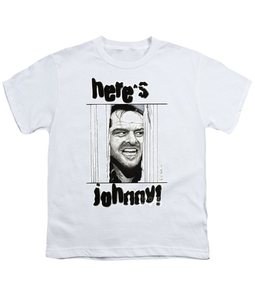 Here's Johnny Youth T-Shirt by Cory Still
