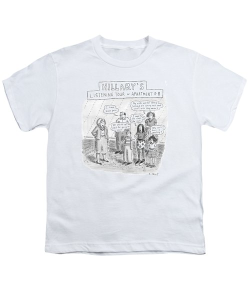 'hillary's Listening Tour Of Apartment 8-b' Youth T-Shirt