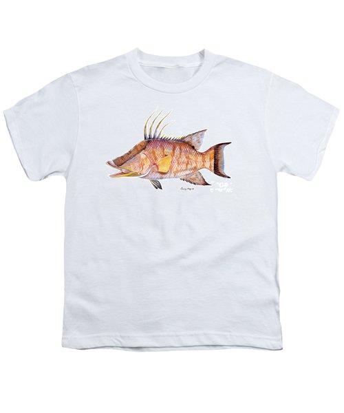 Hog Fish Youth T-Shirt by Carey Chen
