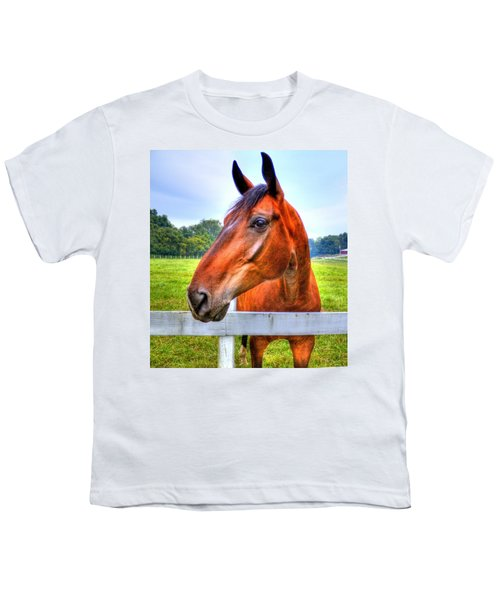 Youth T-Shirt featuring the photograph Horse Closeup by Jonny D