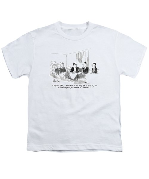 I Beg To Differ Youth T-Shirt by Edward Frascino
