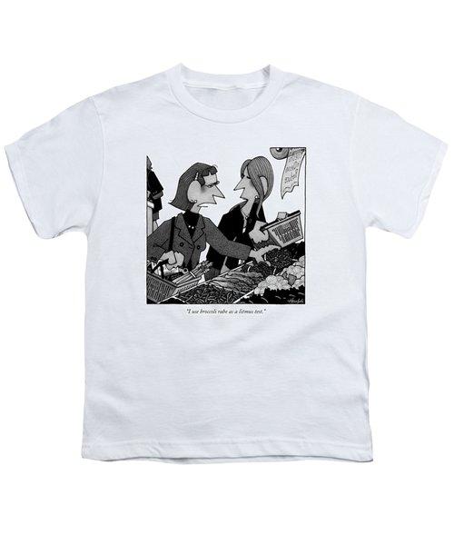 I Use Broccoli Rabe As A Litmus Test Youth T-Shirt by William Haefeli