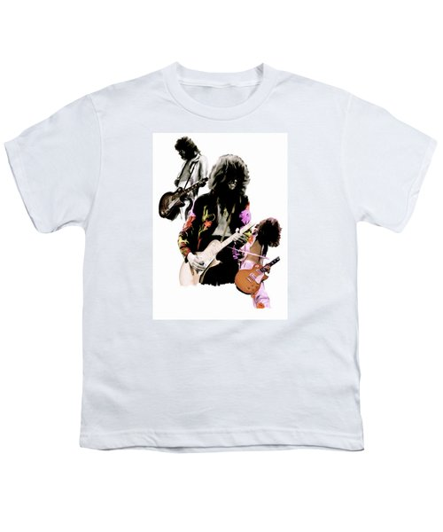 In Flight Iv Jimmy Page  Youth T-Shirt by Iconic Images Art Gallery David Pucciarelli