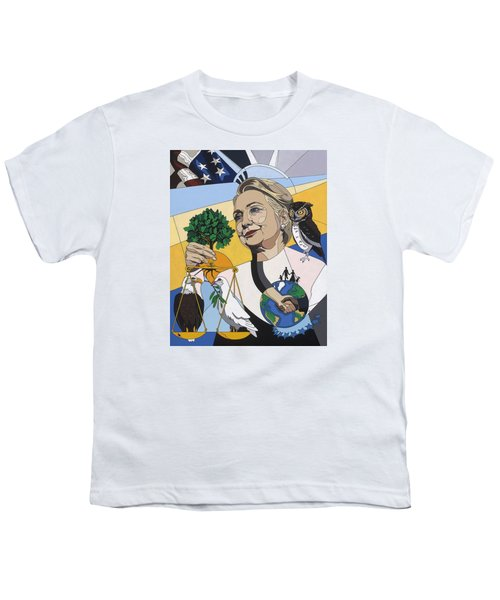 In Honor Of Hillary Clinton Youth T-Shirt by Konni Jensen