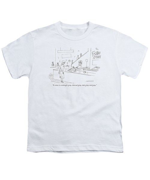 It Comes In Midnight Gray Youth T-Shirt
