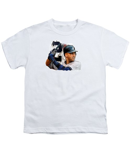 Jeter II  Derek Jeter Youth T-Shirt by Iconic Images Art Gallery David Pucciarelli