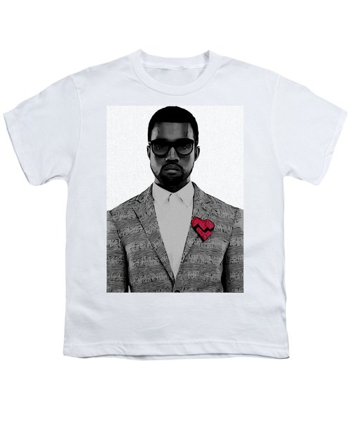 Kanye West  Youth T-Shirt by Dan Sproul