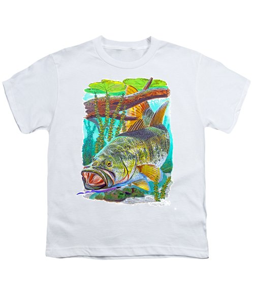 Largemouth Bass Youth T-Shirt by Carey Chen