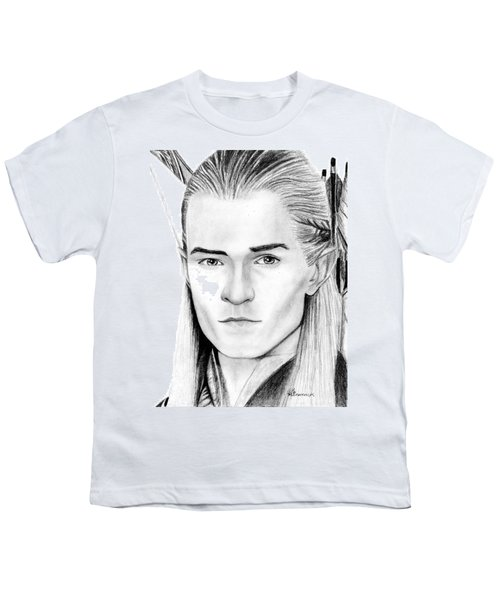 Legolas Greenleaf Youth T-Shirt by Kayleigh Semeniuk