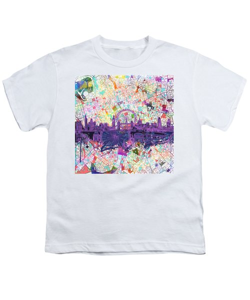 London Skyline Abstract Youth T-Shirt
