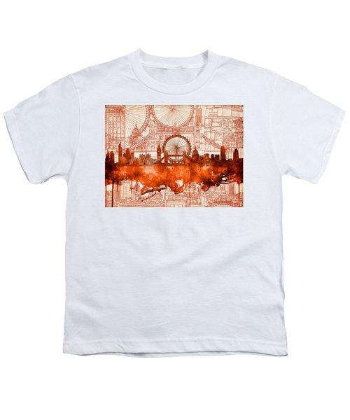 London Skyline Old Vintage 2 Youth T-Shirt