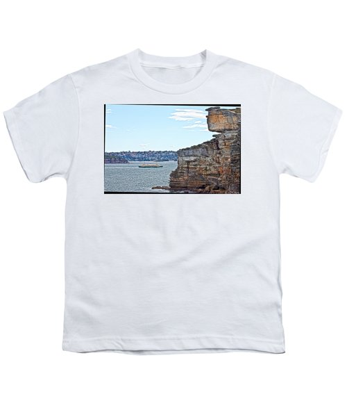 Youth T-Shirt featuring the photograph Manly Ferry Passing By  by Miroslava Jurcik