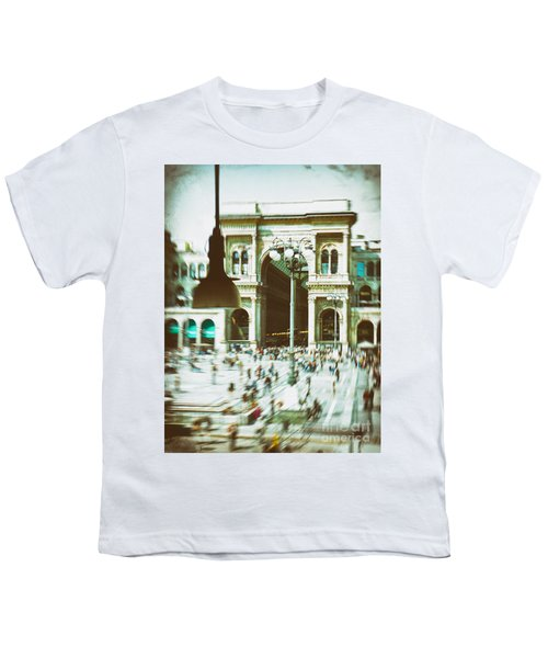 Youth T-Shirt featuring the photograph Milan Gallery by Silvia Ganora