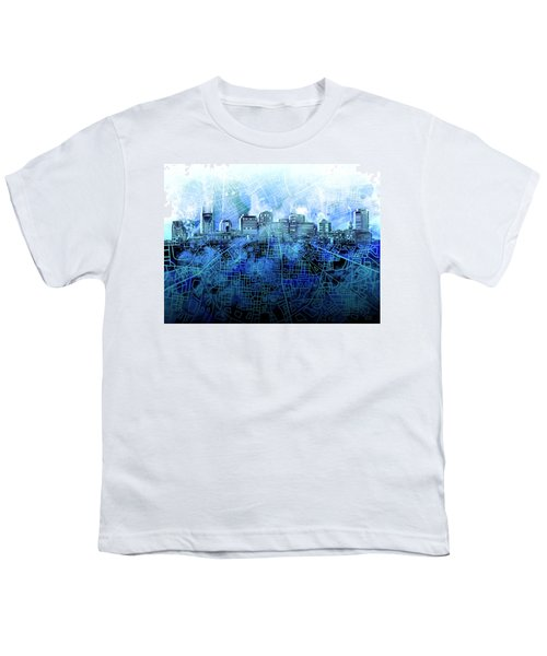 Nashville Skyline Watercolor 3 Youth T-Shirt