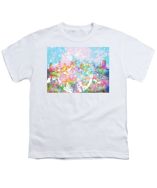 Nashville Skyline Watercolor 8 Youth T-Shirt