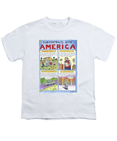 New Yorker January 16th, 1995 Youth T-Shirt by Roz Chast