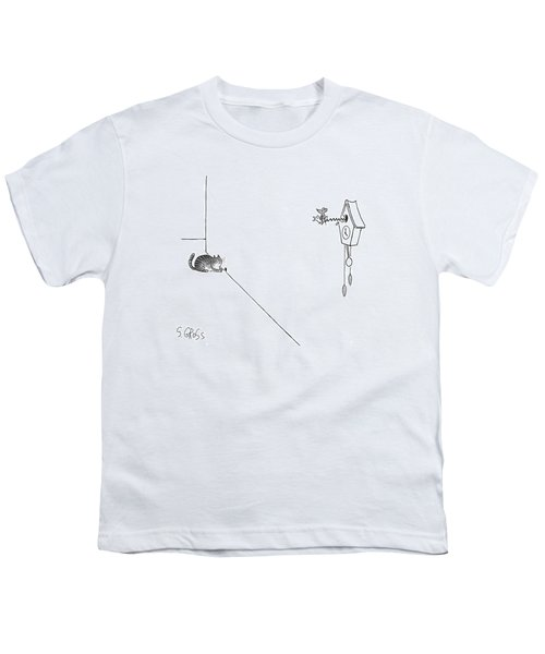 New Yorker October 19th, 1998 Youth T-Shirt by Sam Gross
