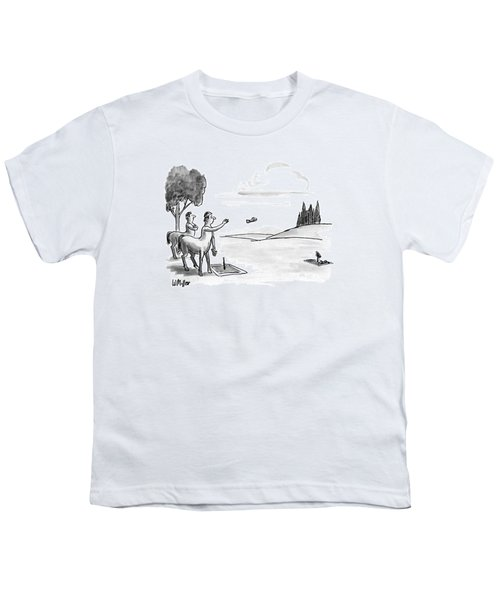New Yorker September 24th, 1990 Youth T-Shirt by Warren Miller