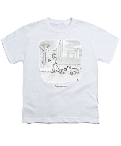One Dog Talks To Another Youth T-Shirt by Paul Noth