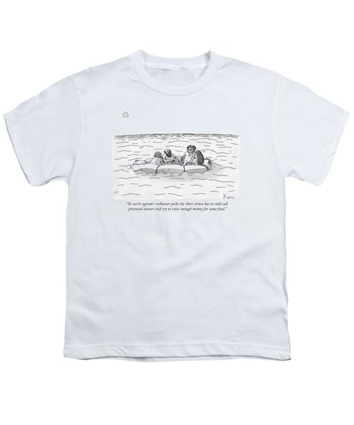 One Man Speaks To Three Others Youth T-Shirt