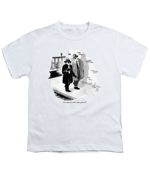 One Shady-looking Man Wearing A Black Overcoat Youth T-Shirt