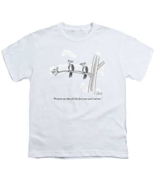 One Vulture Speaks To Another On A Tree Branch Youth T-Shirt