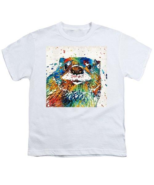 Otter Art - Ottertude - By Sharon Cummings Youth T-Shirt