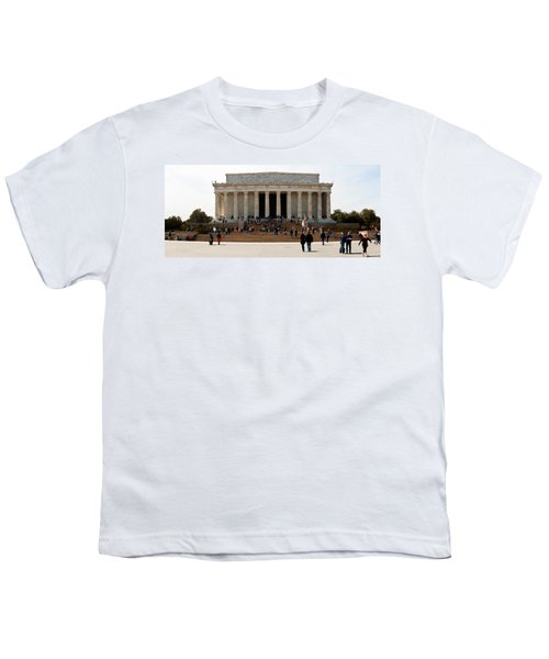 People At Lincoln Memorial, The Mall Youth T-Shirt by Panoramic Images