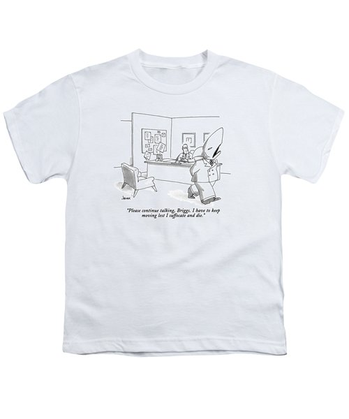 Please Continue Talking Youth T-Shirt