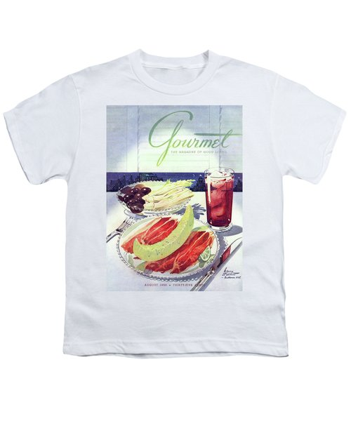 Prosciutto, Melon, Olives, Celery And A Glass Youth T-Shirt