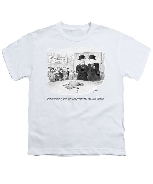 Punxsutawney Phil Can Also Predict The Political Youth T-Shirt