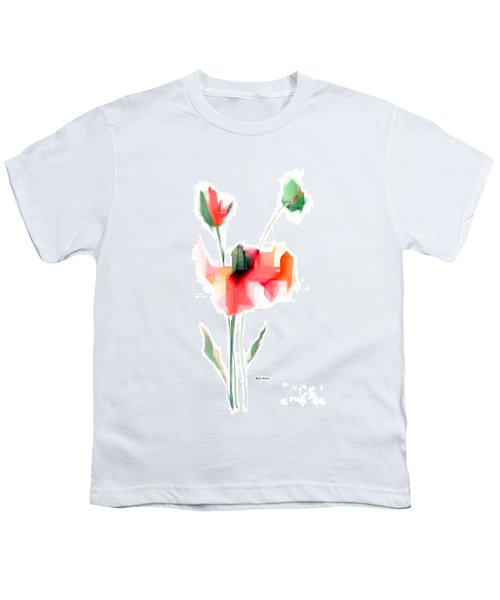 Red Flowers Youth T-Shirt