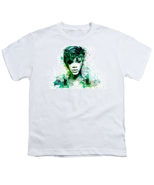Rihanna 5 Youth T-Shirt by Bekim Art