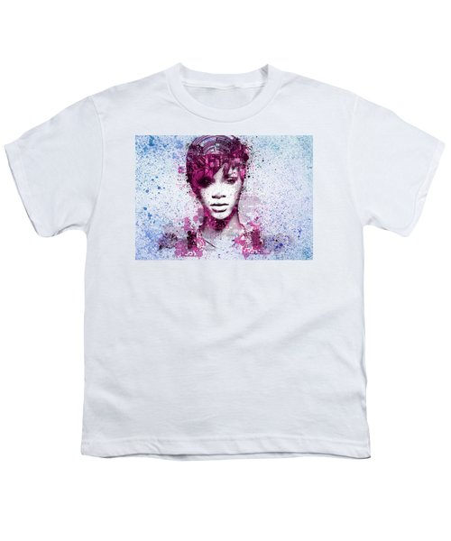 Rihanna 8 Youth T-Shirt by Bekim Art