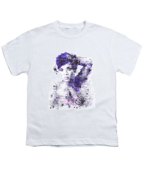 Rihanna Youth T-Shirt by Bekim Art
