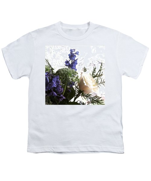 #rose #flowers Youth T-Shirt by Jennifer Beaudet