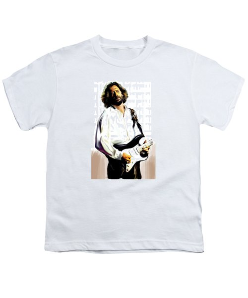 Slow Hand  Eric Clapton Youth T-Shirt by Iconic Images Art Gallery David Pucciarelli