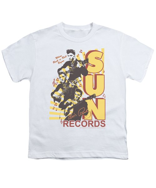 Sun - Tri Elvis Youth T-Shirt by Brand A