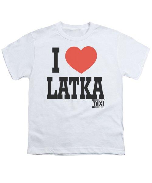 Taxi - I Heart Latka Youth T-Shirt