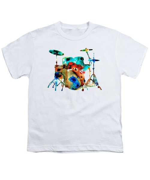 The Drums - Music Art By Sharon Cummings Youth T-Shirt