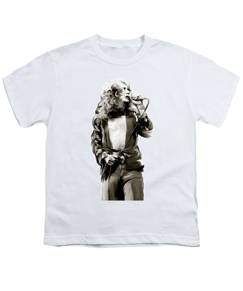 The Lion  Robert Plant Youth T-Shirt by Iconic Images Art Gallery David Pucciarelli