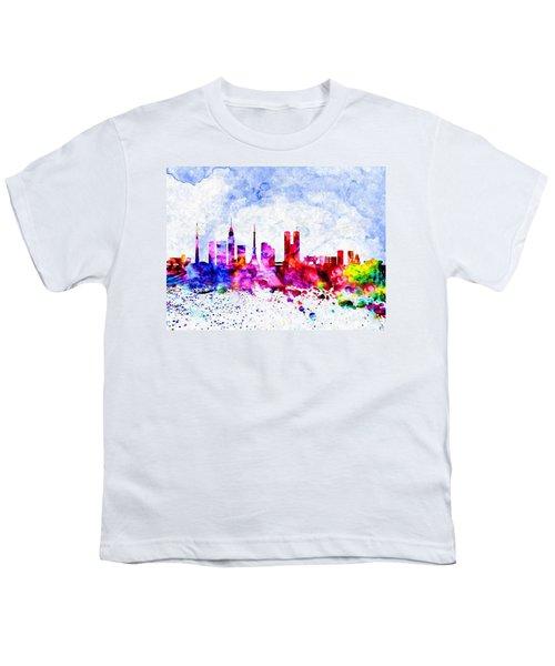 Tokyo Watercolor Youth T-Shirt by Daniel Janda