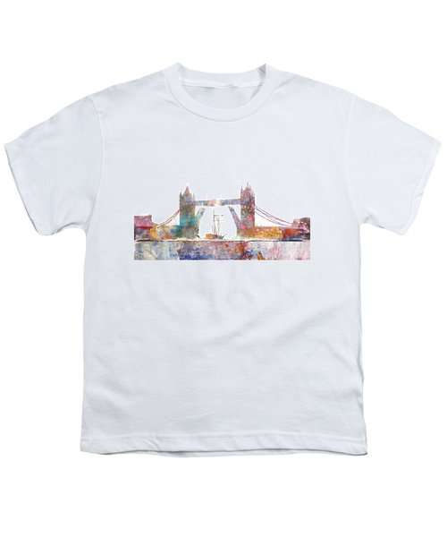 Tower Bridge Colorsplash Youth T-Shirt