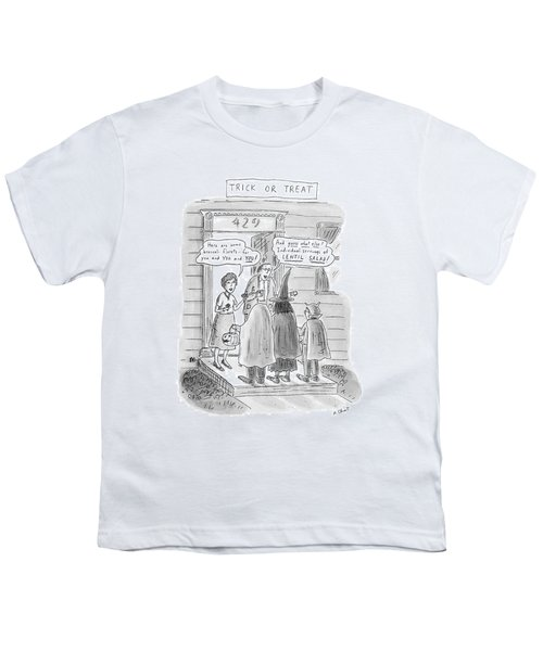 Trick Or Treat 'here Are Some Broccoli Florets - Youth T-Shirt by Roz Chast