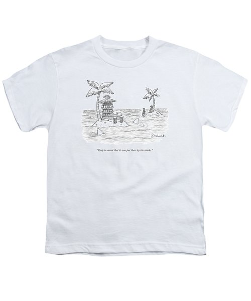 Two Men Stand On A Desert Island Youth T-Shirt