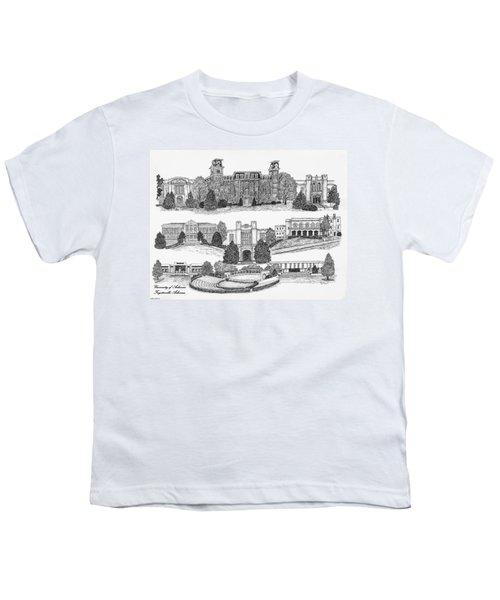 University Of Arkansas Fayetteville Youth T-Shirt by Liz  Bryant