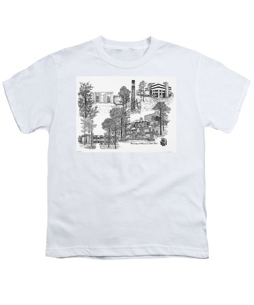 University Of Arkansas Youth T-Shirt by Liz  Bryant