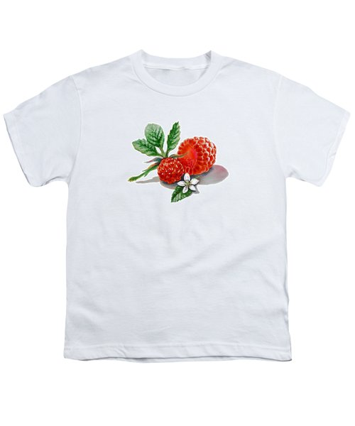 Artz Vitamins A Very Happy Raspberry Youth T-Shirt by Irina Sztukowski