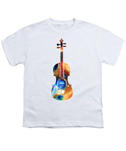 Violin Art By Sharon Cummings Youth T-Shirt